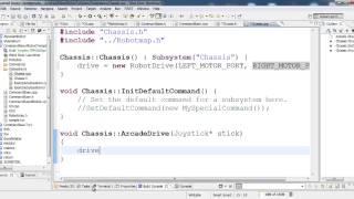 C Programming for FRC CommandBased Robot No 1