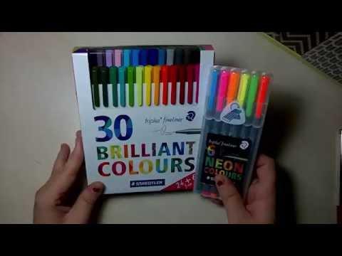 Review Staedtler Brilliant Colours, + Neon Fineliner Triplus. Español