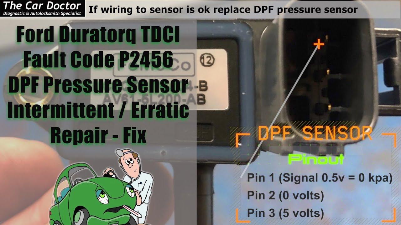 P2456 Ford Kuga Duratorq Particulate Pressure Sensor A Circuit  Intermittent/Erratic Repair - Fix