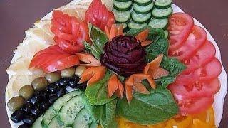 #овощей #нарезка КРАСИВЕЙШАЯ НАРЕЗКА ПОМИДОРОВ И ОГУРЦОВ. КАК КРАСИВО НАРЕЗАТЬ ОВОЩИ???