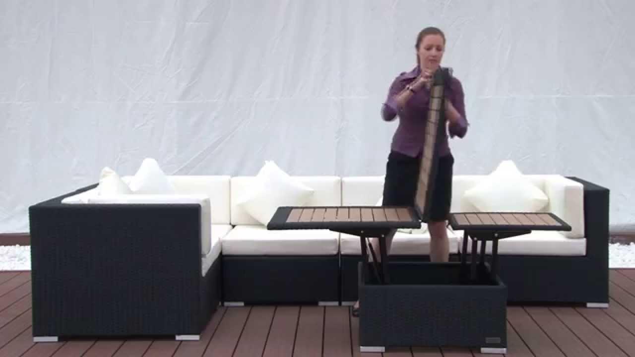 h henverstellbarer loungetisch youtube. Black Bedroom Furniture Sets. Home Design Ideas