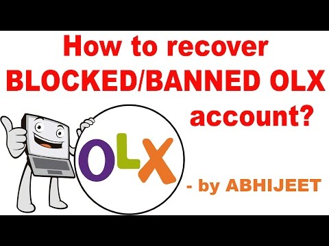 How to recover Banned/Blocked OLX account? - YouTube