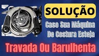 Como destravar uma máquina de costura no sistema da lançadeira oscilante