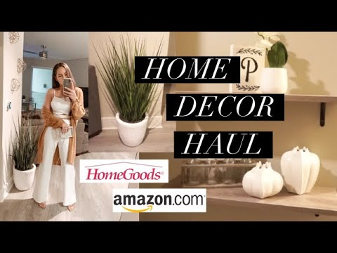 Affordable home decor! amazon + home goods haul!