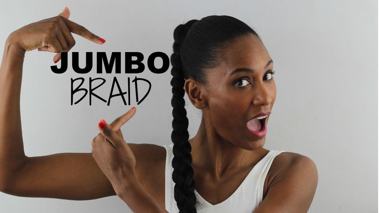 Idée coiffure Jumbo Braid / Cheveux Afro Naturels