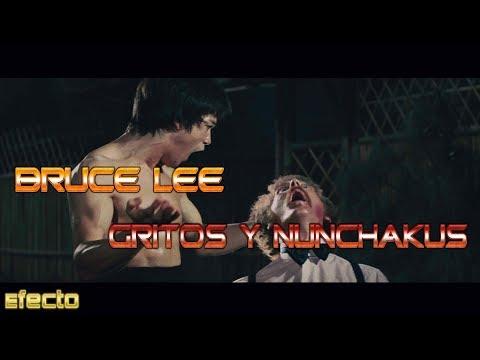 Bruce Lee Gritos Y Nunchakus - Sound Effect