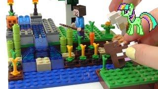 Майнкрафт Лего Ферма Мультик от Kiwi Show Lego Minecraft The Farm(Распаковка набора #lego #minecraft the farm #21114 ! У Стива одна проблема - кто-то выпускает его животных. Оказывается..., 2016-07-13T04:30:01.000Z)