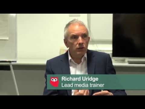 Broadcast media training - the 3P approach