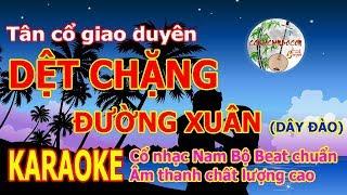 Dệt Chặng Đường Xuân (Dây đào) - Karaoke Tân Cổ Beat Chuẩn Âm Thanh Chất Lượng Cao