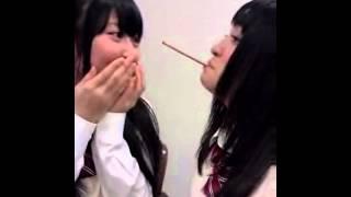 SKE48今出舞と高柳明音のポッキーゲーム.