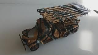 Масштабна модель БМ-13''Катюша'' ТМ''ЗІРКА''.1:35