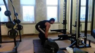 Становая тяга 220 кг на 19 раз
