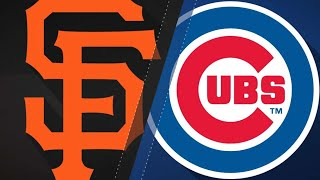 Timely hitting propels Giants over Cubs: 5/26/18