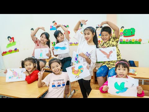 Kids Go To School | Chuns And Friends Learn To Draw Pictures Contest Who Is Better 2