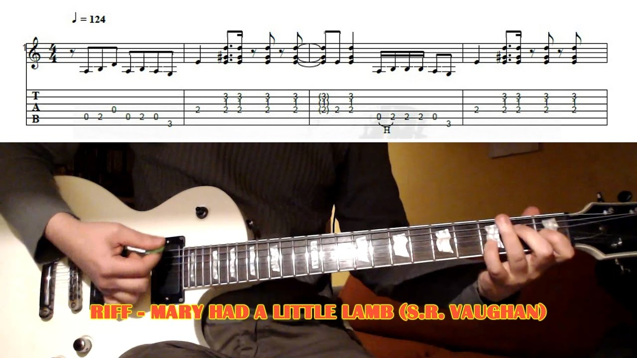 Mary Had A Little Lamb Riff Stevie Ray Vaughan Guitar Lesson With