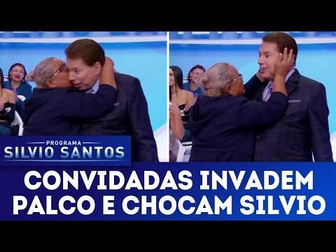 Moça invade palco e deixa Silvio sem reação | Programa Silvio Santos (29/04/18)