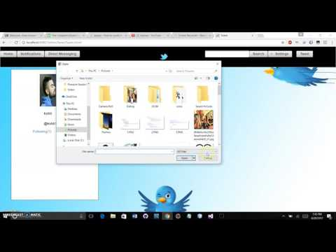Twiter Project Using Java, JSF, Glassfish Server, HTML, CSS, PrimeFaces