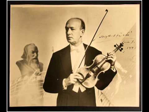 Joseph Szigeti シゲティ / Brahms:Vn.Conzert.-1st.mov.(1928)