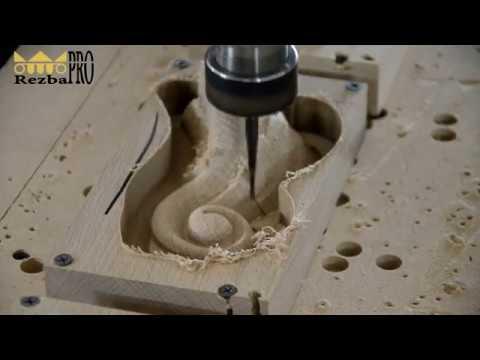 Изготовление резной мебельной ножки на станке ЧПУ
