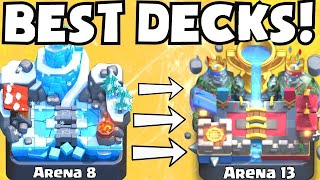 Clash Royale BEST DECK FOR ARENA 8 - ARENA 13 | BEST UNDEFEATED ATTACK STRATEGY TIPS F2P PLAYERS
