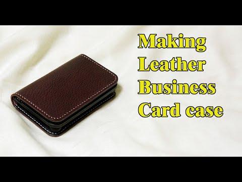51 [Leather Craft] Making Leather Business Card Case / [가죽공예] 가죽 명함케이스 만들기 / Free Pattern