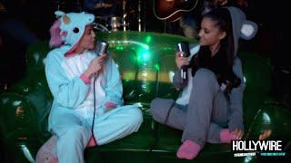Miley Cyrus & Ariana Grande Duet Wearing Onesies! (VIDEO)