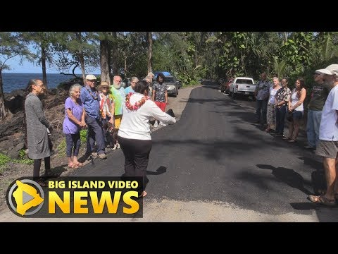 Beach Road Paved In Case Of Puna Evacuation (May 18, 2017)