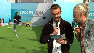 Everton fans & James Maddison take on the Volley Challenge! ⚡