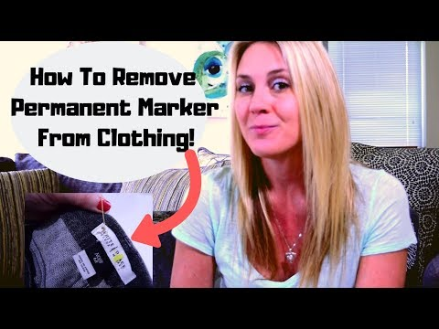 How To Remove Permanent Marker From Clothing