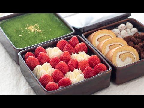 スイーツおせち作ってみた!前編-japanese-sweet-osechi-いちごタルト、純生ロール-strawberry-tart,-roll-cake|hidamari-cooking