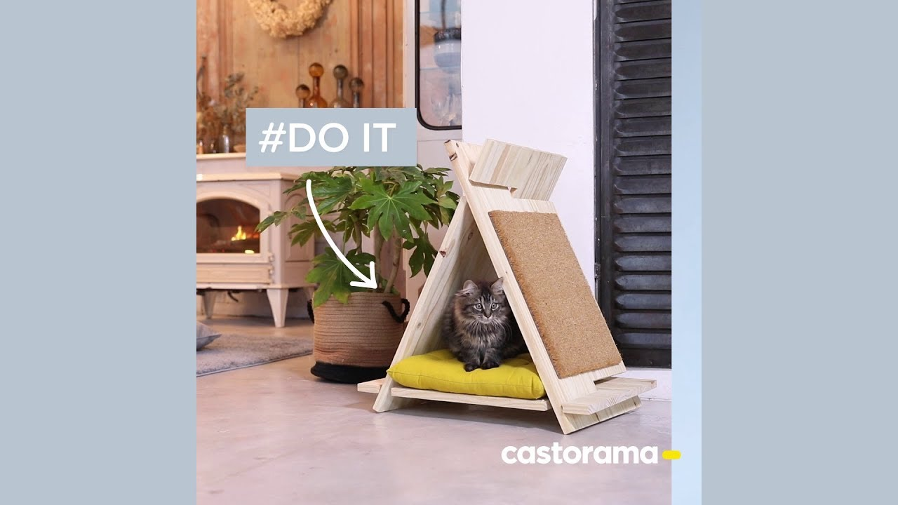 Tipi Pour Chat A Fabriquer diy : réalisez un tipi pour chat en bois, sans colle, ni clou, ni vis.