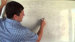Алгебра 9 класс. 9 сентября. решаем уравнения с дробями