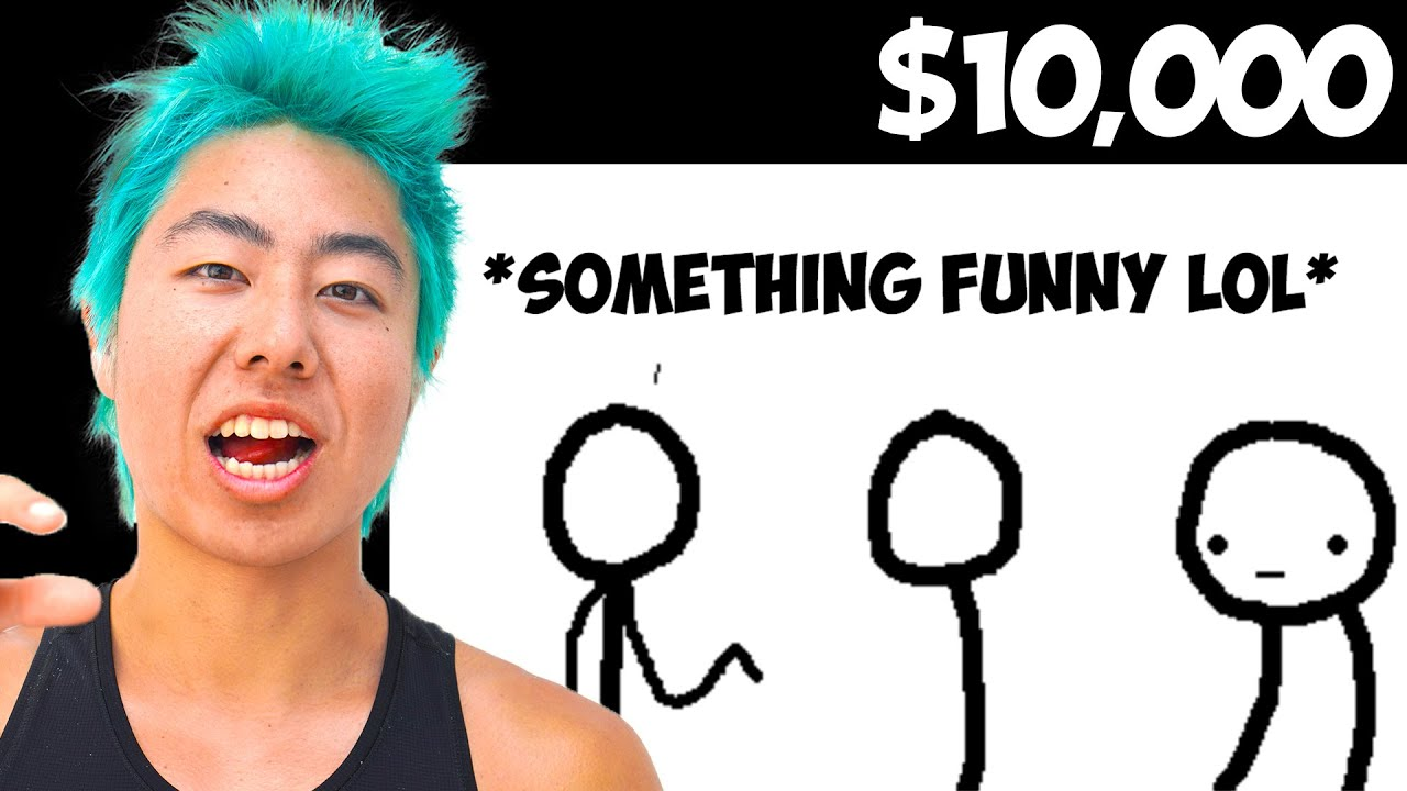 Make The Funniest Comic And I'll Pay For Anything Challenge | ZHC Crafts