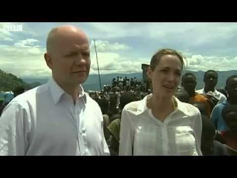 Hollywood-Angelina Jolie and Secretary William Hague visit Democratic Republic of Congo rescue camp