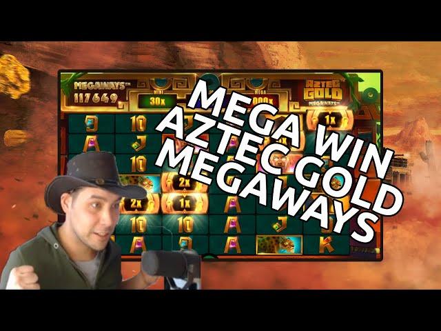 Aztec Gold Megaways mega win - Max Megaways feature
