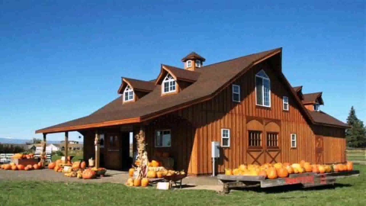 Barn style house pictures youtube for Barn type homes