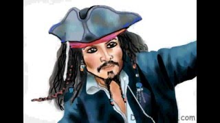 How to Draw Captain Jack Sparrow