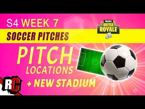 Score GOALS In 3 Different PITCH Locations WEEK 7 | Fortnite (NEW Soccer Stadium / Pitch Locations)