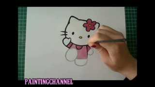 TUTORIAL How to Draw/Paint - Hello Kitty (Real Time)