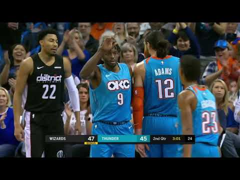 Washington Wizards vs Oklahoma City Thunder : January 6, 2019