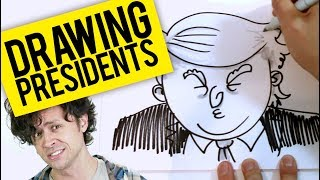 Watch me draw 10 presidents