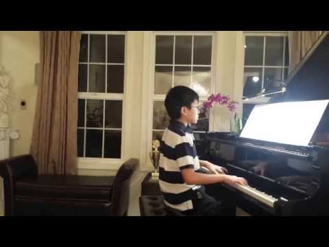 Sang 10 yrs old plays In The Morning Light  Yanni