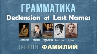 Intermediate Russian II: Declension of Last Names