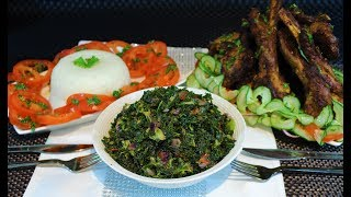 How To Cook Easy Kenyan Style Sukuma Wiki/Kale and Ugali Easy Recipe