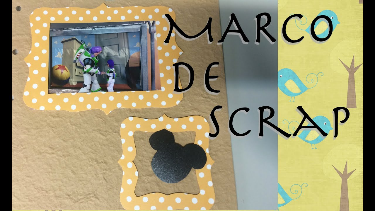 Marco de scrap para decorar fotos youtube - Marcos para decorar ...