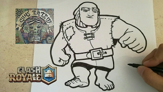 COMO DIBUJAR AL GIGANTE - CLASH ROYALE / how to draw giant - clash rotale