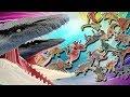 Jurassic World Mosasaurus Eat Mini Dinosaur Eggs! Escape From Giant Dinosaur - Dino Toys For Kids