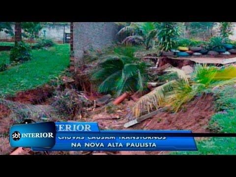 Chuvas causam estragos e transtornos na Nova Alta Paulista