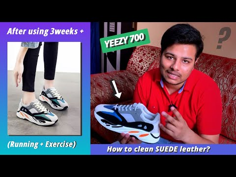 Yeezy 700 shoes after 3 weeks review | How to clean suede leather | Mr shoes yeezy 700 review