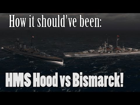 How it SHOULD've Been: Hood vs Bismarck | Atlantic Fleet